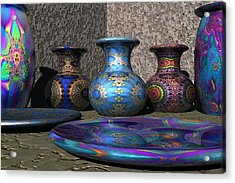 Marrakesh Open Air Market Acrylic Print by Lyle Hatch