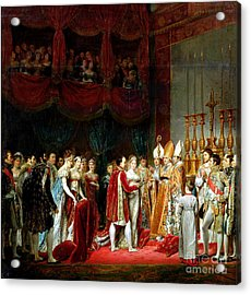 Marriage Of Napoleon I And Marie Louise Acrylic Print by MotionAge Designs