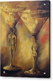 Marriage Of The Martinis  Acrylic Print