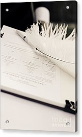 Marriage Register Acrylic Print