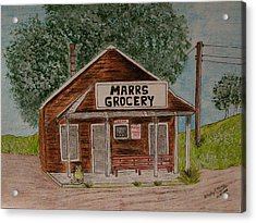 Acrylic Print featuring the painting Marrs Country Grocery Store by Kathy Marrs Chandler