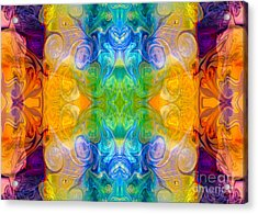 Marrying A Rainbow Abstract Bliss Art By Omashte Acrylic Print