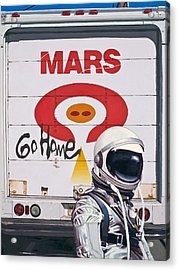Acrylic Print featuring the painting Mars Go Home by Scott Listfield
