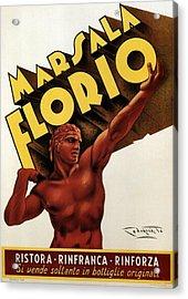 Marsala Florio - Sicily, Italy - Vintage Poster Acrylic Print