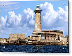 Marsala Lighthouse Acrylic Print by Anthony Dezenzio