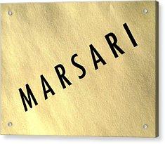 Marsari Gold Acrylic Print
