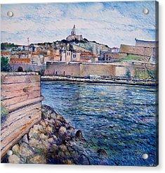 Marseille Pierre Plats Provence France Cm 2004  Acrylic Print by Enver Larney
