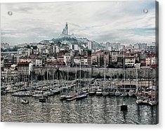 Marseilles France Harbor Acrylic Print by Alan Toepfer