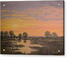 Marsh At Sunset Acrylic Print