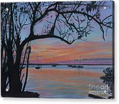 Marsh Harbour At Sunset Acrylic Print