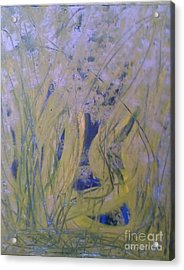 Marsh Moment Acrylic Print by Leslie Revels Andrews