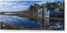 Acrylic Print featuring the photograph Marsh Reflection by David Bishop
