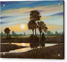 Marsh Sunset Acrylic Print by Rick McKinney