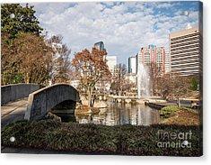 Marshall Park In Charlotte North Carolina Acrylic Print by Paul Velgos