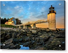 Acrylic Print featuring the photograph Marshall Point Light Aglow by Expressive Landscapes Fine Art Photography by Thom