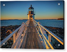 Marshall Point Light Station Acrylic Print by Rick Berk