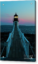Marshall Point Lighthouse At Sunset Acrylic Print by Diane Diederich