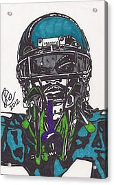 Marshawn Lynch 1 Acrylic Print by Jeremiah Colley
