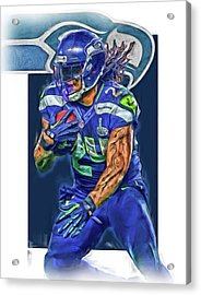 marshawn lynch SEATTLE SEAHAWKS OIL ART Acrylic Print