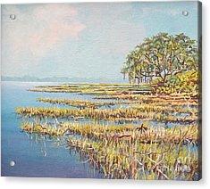 Marshland Acrylic Print by Sinisa Saratlic