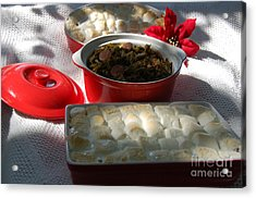 Marshmellow Covered Candied Yams And Southern Greens Acrylic Print
