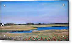 Acrylic Print featuring the pastel Marshside by Cindy Plutnicki