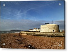 Martello Tower At Seaford Sussex Acrylic Print by James Brunker