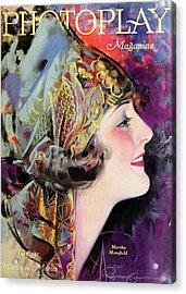 Martha Mansfield, Photoplay July 1920 Acrylic Print by Sarah Vernon