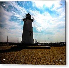 Acrylic Print featuring the photograph Martha's Vineyard Lighthouse - Massachusetts by Madeline Ellis