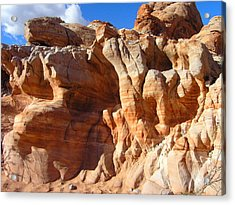 Martian Cliffs Acrylic Print by Silvie Kendall