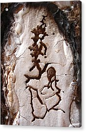 Martian Dance - Tree Bark Art Acrylic Print