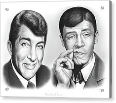 Martin And Lewis Acrylic Print by Greg Joens