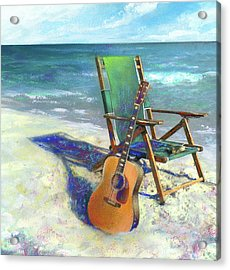 Martin Goes To The Beach Acrylic Print