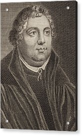 Martin Luther Acrylic Print by English School