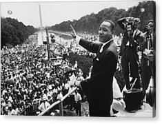 Martin Luther King Acrylic Print by American School