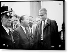 Martin Luther King Jr., And Malcolm X Acrylic Print