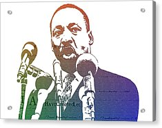 Martin Luther King Jr Acrylic Print by Dan Sproul