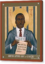 Martin Luther King Of Georgia  - Rlmlk Acrylic Print