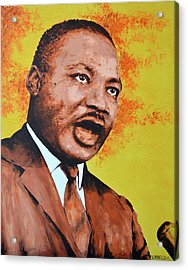 Martin Luther King Acrylic Print by Victor Minca