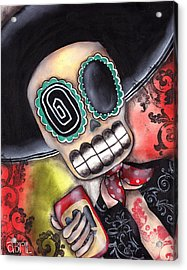 Martin Mariachi Acrylic Print by  Abril Andrade Griffith