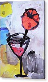 Martini And Orange Acrylic Print by Amara Dacer