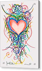 Martini Heart Acrylic Print by Jon Veitch