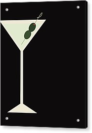 Martini Acrylic Print by Julia Garcia