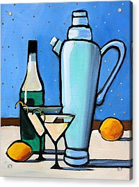 Martini Night Acrylic Print by Toni Grote