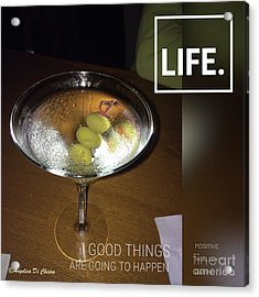 Martini - Quote Acrylic Print by Italian Art