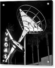 Martini Sign In Vegas B-w Acrylic Print