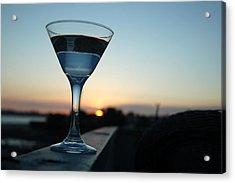 Martini Sunset Acrylic Print by John Finch