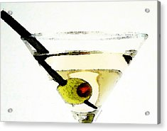 Martini With Green Olive Acrylic Print