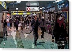 Marunouchi Line, Tokyo Metro Japan Poster Acrylic Print