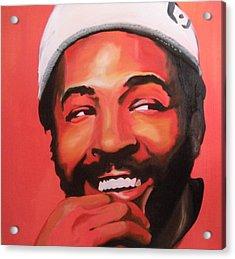 Marvin Gaye Acrylic Print by Matt Burke